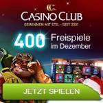 400 Freispiele im Adventskalender vom Casino Club
