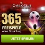 365 Freispiele zur Fußball WM im Casino Club