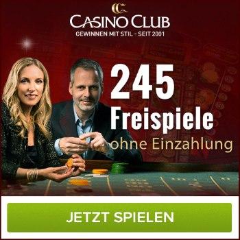 245 Freispiele im Online Casino