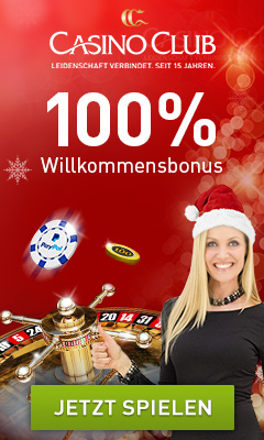 CasinoClub verschenkt 500 Freispiele zu Weihnachten